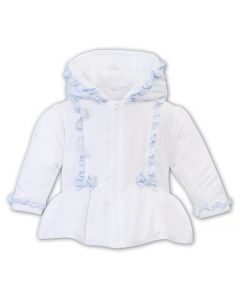 Sarah Louise & Dani White Blue Frill Jacket