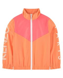 Kenzo Kids Girls Neon orange and Pink Windbreaker