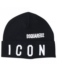 DSQUARED2 Kids Black Knitted Hat