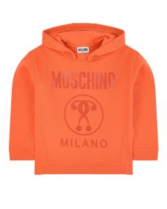 Moschino Kid-Teen Orange Cotton Milano Logo Sweatshirt