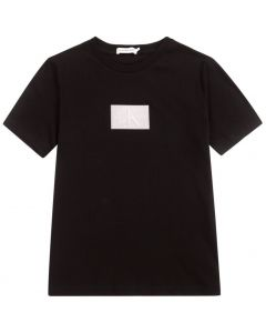 Calvin Klein Jeans Teen Black Reflective Logo T-Shirt
