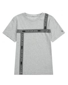 Calvin Klein Jeans Teen Grey Tape Logo T-Shirt