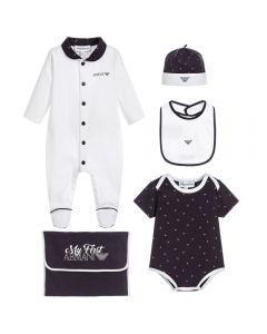 Emporio Armani Navy Blue 4 Piece Baby Gift Set