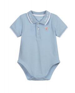 Guess Baby Pale Blue Logo Bodysuit