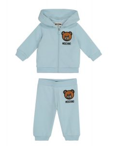 Moschino Baby Embroidered Teddy Blue Tracksuit