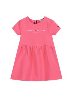 Tommy Hilfiger Girls Pink Cotton Dress