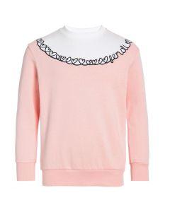 FENDI Girls Pink Cotton Adore Sweatshirt