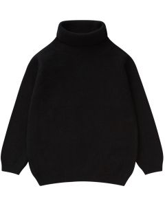 Il Gufo Girls Black Polo Neck Sweater