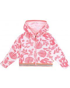 Billieblush Pink Cactus Pattern Towelling Zip-Up Top