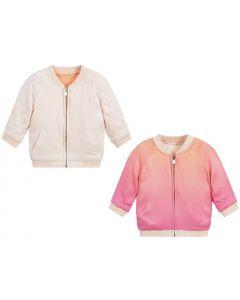 Chloé Girls Pink & Orange Reversible Jacket