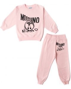 Moschino Kid-Teen Pink Milano Cotton Logo Tracksuit