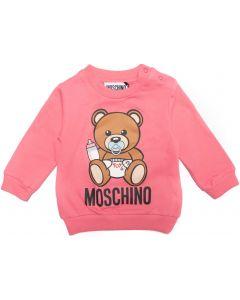 Moschino Baby Pink  Cotton Logo Sweatshirt