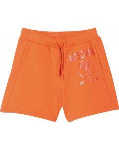 Moschino Kid-Teen Orange Cotton Logo Shorts