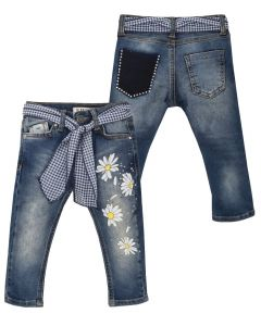 Everything Must Change Girls Blue Daisy Denim Jeans