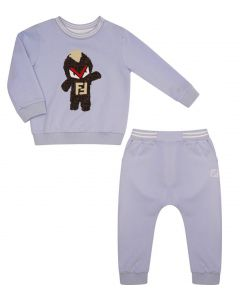 FENDI Baby Boys Blue Monster Tracksuit