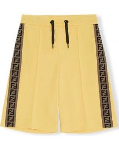 Fendi Boys Yellow 'FF' Logo Shorts