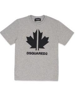 DSQUARED2 Leaf Logo Grey T-Shirt
