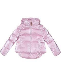 Monnalisa Pink Pearl Puffer Jacket