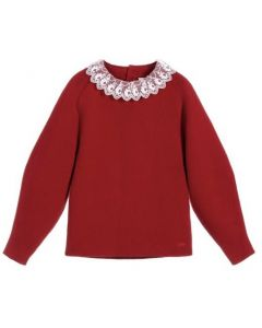 Chloé Red Knitted Cotton Sweater