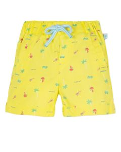 Absorba Baby Boy's Yellow Holiday Print  Shorts