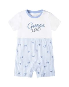Guess Baby Boys Blue Stork Cotton Shortie
