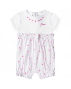 Guess Baby Girls Pink Heart Cotton Shortie