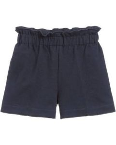 Il Gufo Navy Blue Cotton Jersey Shorts