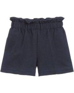 Il Gufo Navy Blue Cotton Jersey Shorts