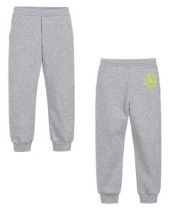 FENDI Baby Boys Grey Cotton Joggers