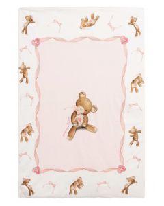 Monnalisa Pink Teddy Bear Blanket (84cm)