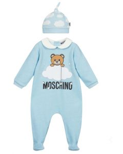 Moschino Baby Blue Cloud Teddy Babygrow Set