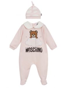 Moschino Baby Pink Cloud Teddy Babygrow Set