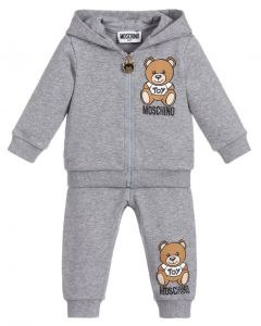 Moschino Baby Grey Teddy Logo Tracksuit
