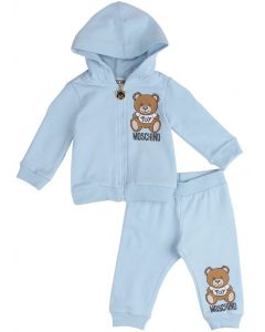 Moschino Baby Pale Blue Teddy Logo Tracksuit