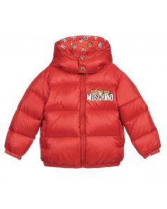 Moschino Baby Red Down Padded Jacket