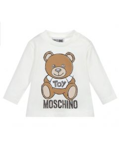 Moschino Baby Ivory Teddy Logo Top