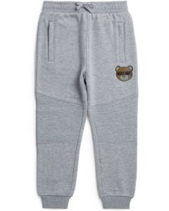 Moschino Baby Grey Cotton Hologram Joggers