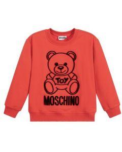 Moschino Kid-Teen Red & Black Teddy Sweatshirt