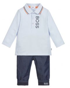 BOSS Kidswear Baby Boys Polo and Jean Gift Set