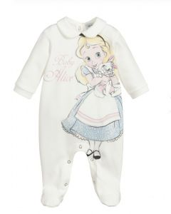 Monnalisa Girls Ivory Alice Disney Babygrow
