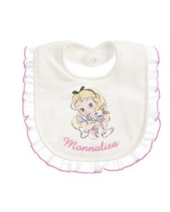 Monnalisa Ivory & Pink Alice Disney Bib