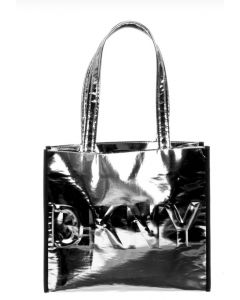 DKNY Silver Logo Tote Bag (34cm)