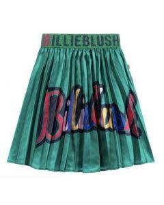 Billieblush Green Pleated Satin Skirt