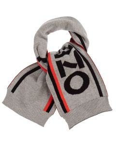 Kenzo Kids Boys Grey Knitted Cotton Scarf