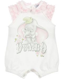Monnalisa White Cotton Dumbo Shortie