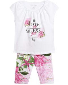 Guess Pink & White Leggings Set