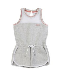 BOSS Kidswear Girls Grey Jersey Playsuit
