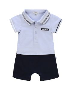 BOSS Kidswear Pale Blue and Navy Cotton Shortie