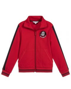 LITTLE MARC JACOBS Boy's Red Zip-Up Top