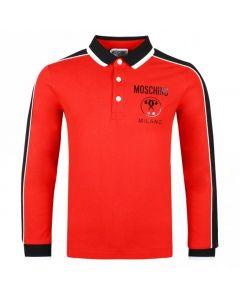 Moschino Kid-Teen Red and Black Milano Polo Shirt